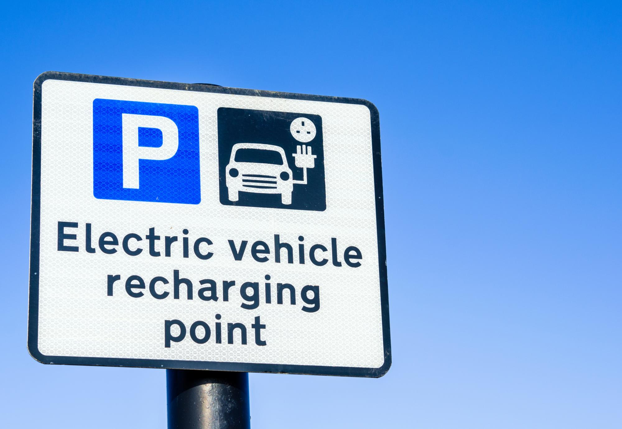 Electric vehicle charging sign