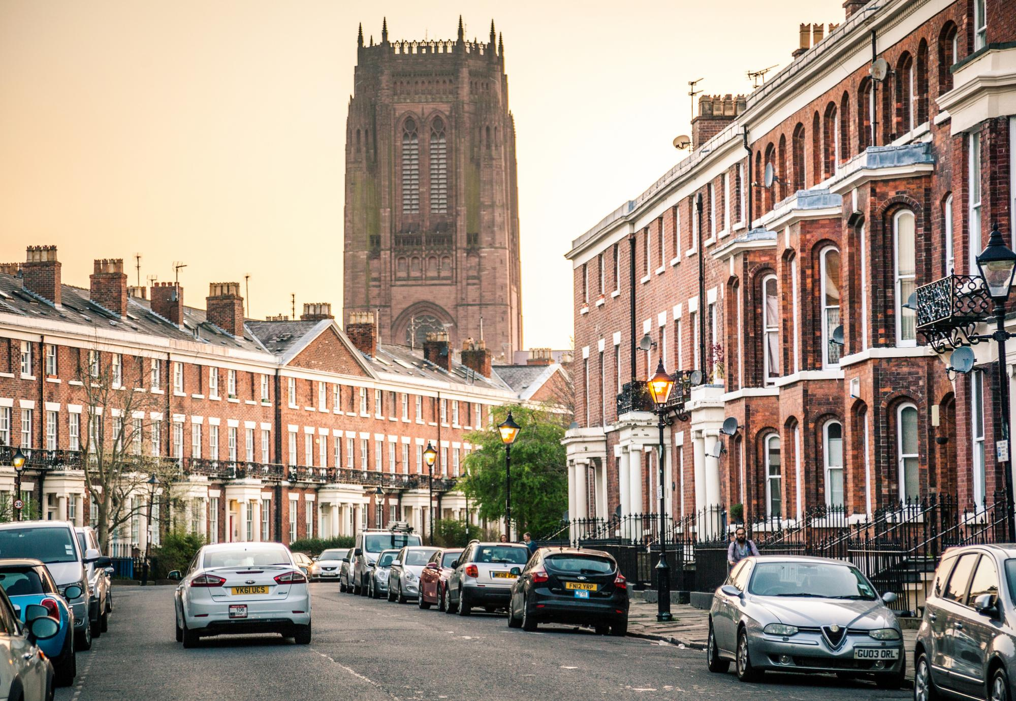 Liverpool Cathedral and housing