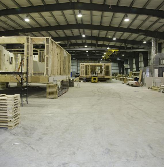 Modular home warehouse