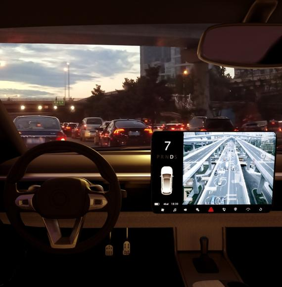 Interior from self-driving car