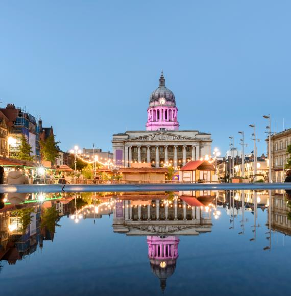 Nottingham City at night