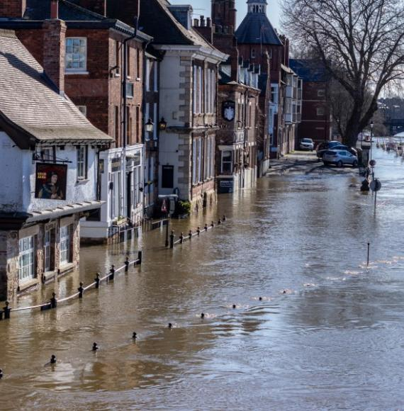 River Ouse flooding in the City of York