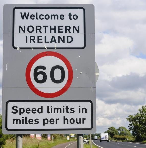 Northern Ireland welcome sign