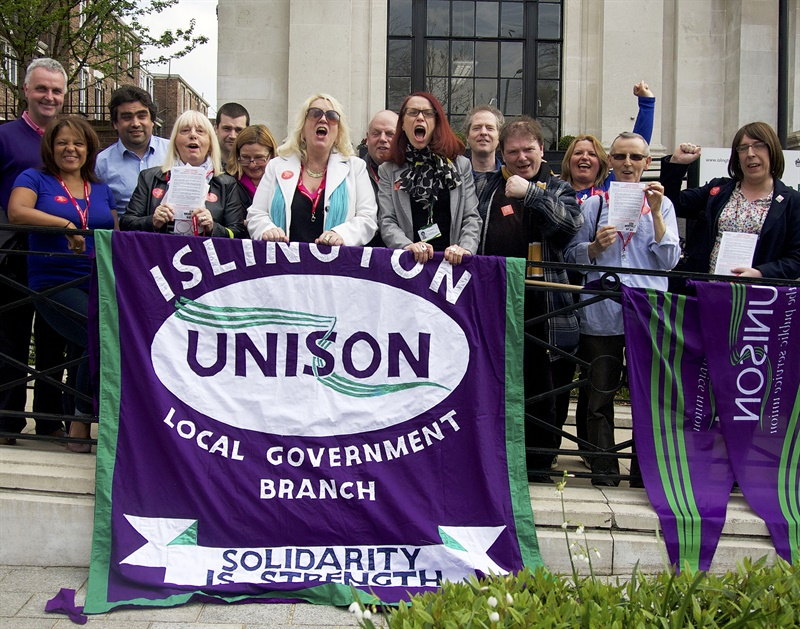 Unison calls for an end to public sector job cuts