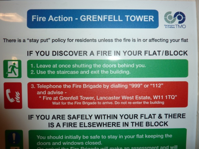 grenfell tower safety notice
